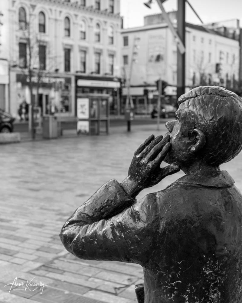 Evening Echo Boy, Patrick Street, Cork City, Ireland